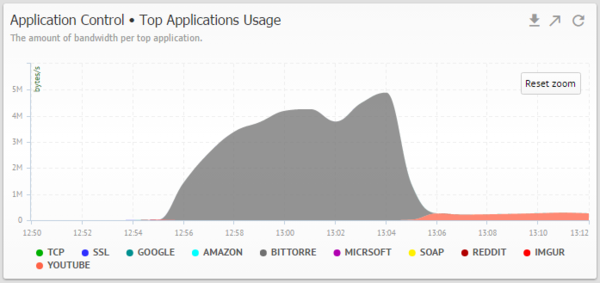 Top Applications Bandwidth Usage
