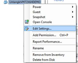 vCenter Edit Settings
